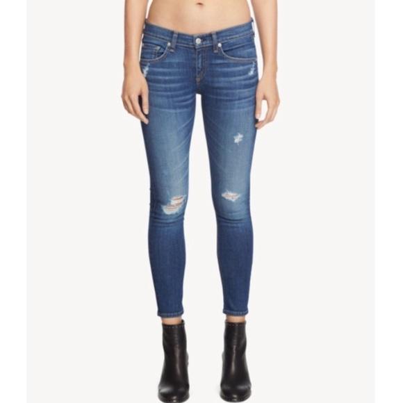 Rag & Bone Capri 'Canyon' wash jeans distressed 27